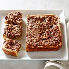 Pecan Pie Bars #williamssonoma