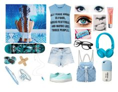 """""""Blue Skatergirl"""" by tomboy-for-life ❤ liked on Polyvore featuring interior, interiors, interior design, home, home decor, interior decorating, Tiffany & Co., Darkstar, Vans and Topshop"""