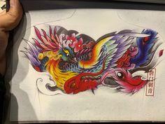 Japanese Phoenix Tattoo, Japanese Tattoo Art, Japanese Sleeve Tattoos, Full Chest Tattoos, Chest Piece Tattoos, Fenix Tattoos, Jesus Drawings, Phoenix Tattoo Design, Phoenix Art