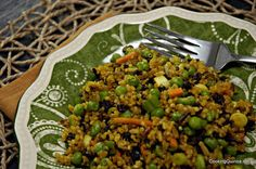 Yum - hubby made this last nite - we substituted grated carrot, used a sweet (as opposed to hot) chutney - and more of it, as we used more quinoa and wild rice. Great flavour combo!