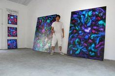 Victor Angelo International Artist Residency Painting Studio Contemporary Art Modern Paintings