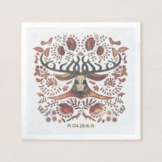 Deer and Woodland Animals Wedding Paper Napkin