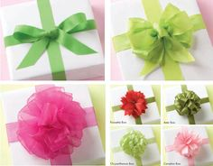 Beautiful Bow How-To's - I am always looking for new bow ideas!!  And there are all kinds of gift wrapping ideas here, too!