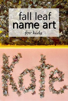 This fall leaf name art activity using dried leaves is a fun hands-on way to help build name recognition and spelling while also involving the senses. Fall fun for a preschool or kindergarten leaf theme!