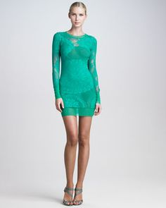 Lace-Mesh Long-Sleeve Dress by Jean Paul Gaultier at Bergdorf Goodman.