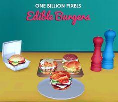 One Billion Pixels: Edible Burgers