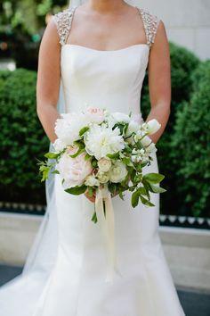 Lush peony bouquet: http://www.stylemepretty.com/2014/11/25/romantic-gramercy-park-hotel-wedding-2/ | Photography: Sasithon Photography - www.sasithonphotography.com