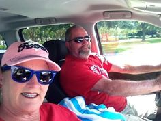 God I LUV Football! Jan @pignite, Buccaneers OFR and hubby on way to the game.