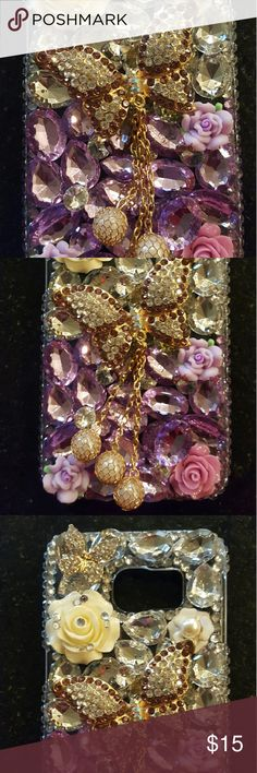 Galaxy S6 edge case 3D Bling case Galaxy S6 edge case 3D Bling case. New never used. I have an S6 this did not fit says it is for S6edge EVTech Accessories Phone Cases