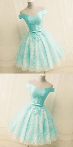 Green Off the Shoulder Appliques Short Homecoming Dress, Tulle Prom Dress, Shop plus-sized prom dresses for curvy figures and plus-size party dresses. Ball gowns for prom in plus sizes and short plus-sized prom dresses for High Low Prom Dresses, Cute Prom Dresses, Tulle Prom Dress, Lace Evening Dresses, Dance Dresses, Lace Dress, Dresses For Work, Elegant Dresses, Sexy Dresses