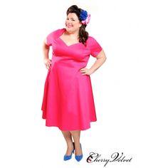 Plus Size Dresses, Dresses For Work, Sabrina Dress, Fuschia Dress, Your Girlfriends, Frocks, Rockabilly, Pinup, Retro Fashion