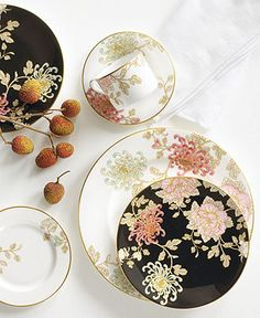 Marchesa by Lenox Dinnerware, Painted Camellia Collection - 5-pc Place Setting $180.00 at Macys.com