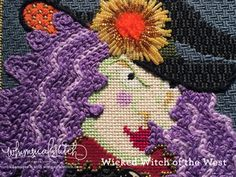 Wicked Witch: chain stitch hair