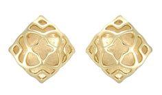 Kendra Scott Tima Medallion Stud Earrings in Gold Plated