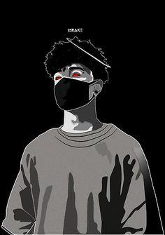 'Scarlxrd' Poster by Mrake Art Cartoon Wallpaper, Emo Wallpaper, Screen Wallpaper, Iphone Wallpaper, Arte Do Hip Hop, Hip Hop Art, Dope Cartoon Art, Cartoon Kunst, Arte Dope