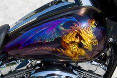 Tank - Blue Dragon...... Airbrush Skull, Custom Motorcycle Paint Jobs, Dragon Art, Blue Dragon, Custom Trikes, Motorcycle Tank, Air Brush Painting, Cycling Art, Bike Art