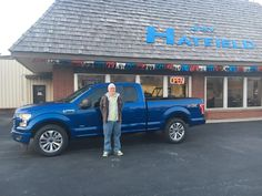 Paul's new 2017 ford f-150! Congratulations and best wishes from Jay Hatfield Ford and David Harrison.