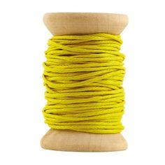 Mustard waxed cord ribbon 10 m - House Doctor DK