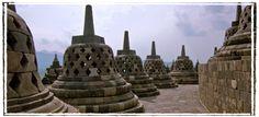 Borobudur, Java, Indonesië.