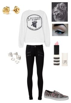 """""""Untitled #15"""" by audreehistired ❤ liked on Polyvore featuring Pull&Bear, Paige Denim, Vans, Marc by Marc Jacobs, Forever 21 and Topshop"""