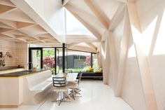 Scale of Ply Extension and Renovation to Period House D6 This remodel and extension of a Victorian house in Dublin 4 uses plywood as a primary and secondary structural material to replace an aged co