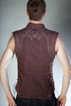 Brown Shipibo Vest -- for the renaissance faire