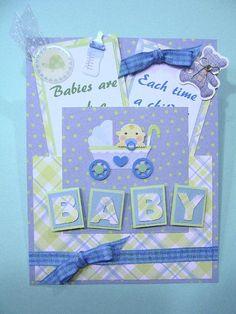 Baby Boy Shower handmade card