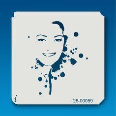 28-00059 Ink Spot Face Stencil