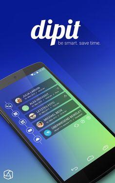 widget   dipit - be smart. save time.   android   mobile   nexus5   appcom