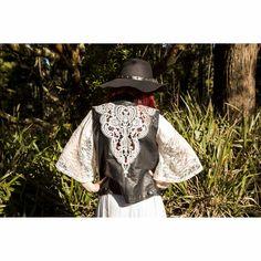 Faux Leather Vest Ruby Beads, Bead Sewing, Cloaks, Leather Vest, Lace Design, S Models, Cowboy Hats, Boho, Cotton