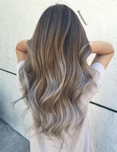 Image result for brown to grey hair ombre