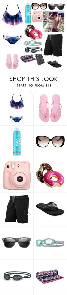 """At the beach with Shawn Mendes"" by jazz-dazzle ❤ liked on Polyvore featuring Havaianas, COOLA Suncare, Gucci, Fujifilm, SONOMA Goods for Life, Tommy Bahama, ZeroUV, TYR, Speedo and Tory Burch"