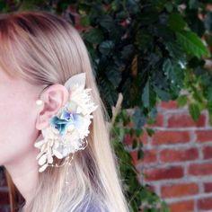 tullelace��flower earhook �� vanillablue