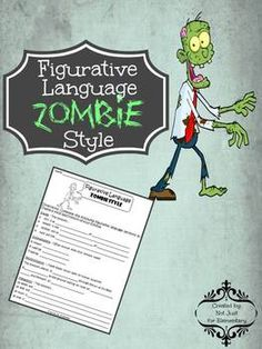 Figurative Language Zombie Style: fun, high-interest writing lesson over similes, metaphors, personification, and onomatopoeia