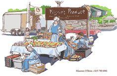 farmer's market illustration - Google Search