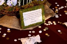 Table decor - quotes