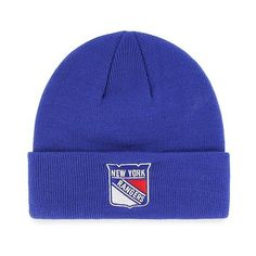 New York Rangers Fan Favorite Cuff Knit Cap, Adult Unisex ($20) ❤ liked on Polyvore featuring accessories, hats, new york rangers, cap hats, nhl cap, knit cap, nhl hats and knit caps hats