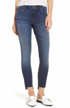 Main Image - BP. Step Hem Skinny Jean