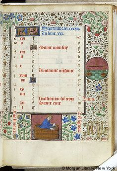 Book of Hours, MS G.55 fol. 10r - Images from Medieval and Renaissance Manuscripts - The Morgan Library & Museum