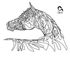 could make this with string or wire... just draw the outline of the horse