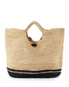 Large Straw Beach Bag $195 - Vitamin A