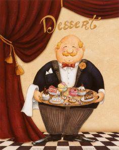 Art deco cuisiniers, maitres d'hotel, sommeliers