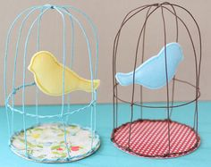 DIY Baby Shower Decorations! Felted Blue Bird And  Lovely Cage Tutorial - Crafts For The Beginner