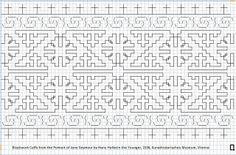 Jane Seymour's Blackwork Cuffs by Ragnvaeig, via Flickr.  Honestly the best charting of the design I've seen.  http://www.flickr.com/photos/ragnvaeig/5495566197/in/photostream/