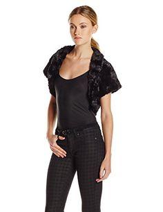 Eliza J Women's Fur Caplet Bolero Jacket $88.00 #topseller
