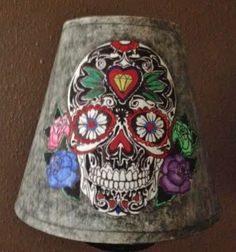 Sugar Skull Lampshade by PlumBatty on Etsy