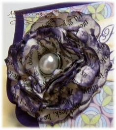 Recycled book pages  Looks beautiful but I'm an avid reader and I'm not sure I could tear apart any book.