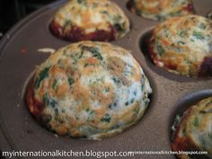 My International Kitchen: Spinach & Feta Ebelskivers, takoyaky, takoyaki, paniyaram Aebleskiver Recipe, Gourmet Recipes, Healthy Recipes, Necterine Recipes, Chard Recipes, Cupcake Recipes, Recipies, Poffertjes, Homemade Pickles