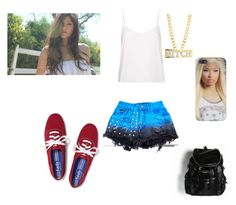 """""""Sem título #141"""" by malena-336 ❤ liked on Polyvore featuring Keds and Topshop"""
