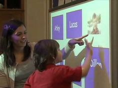 Interactive Whitebaord use in a special day class preschool classroom